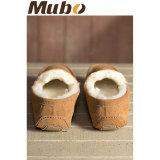 Pattini casuali della pelle di pecora calda di inverno per gli uomini
