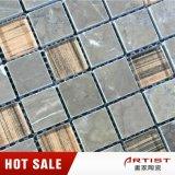 Vetro della miscela del mosaico del marmo di colore del Brown da Foshan