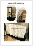 カスタムロゴのテーブルの上の黒いアクリルの石造りの製品のコマーシャルの花こう岩および大理石のタイルのディスプレイ・ケース
