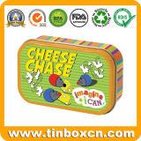 Прямоугольная жестяная коробка для печенья печенья, коробки еды металла