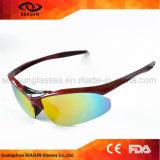 Солнечные очки спортов изготовленный на заказ людей велосипеда логоса UV защитные для задействуя управлять