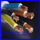 3 cabo elétrico flexível do sqmm do núcleo 10