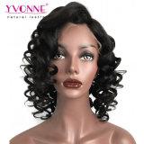 Парик фронта шнурка человеческих волос новой плотности типа 180% оживлённый курчавый реальный