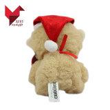 Het in het groot Zachte Stuk speelgoed van Kerstmis van de Pluche van de Aap met Red Hat