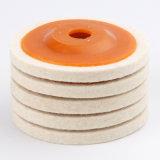 모직 펠트 담황색 닦는 바퀴 또는 느껴진 닦는 바퀴
