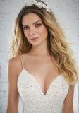 Spaghetti robe de mariage robes de mariée robe de mariée de Mermaid dentelle W15218
