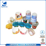 Plastikfilm-Behälter im Form-Aufkleber-Kennsatz stempelschneiden