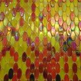 Mattonelle prefabbricate della parete di ellisse di vetro del mosaico
