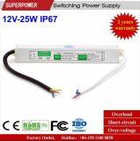 LEIDENE Voltage van het HOOFD van de Bestuurder Levering van de Constante 12V 25W de Waterdichte Macht van de Omschakeling IP67