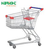 Metálica de estilo asiático Carrito de Compras carrito de supermercado