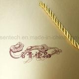 Logotipo estampado en caliente de Oro de la impresión de bolsas de papel con asas