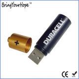 Pilha AAA com 4 GB de memória flash USB Shape Stick (XH-USB-106)