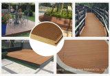 Non-Capped ordinaire ou recyclé WPC Flooring, bois Composite Decking en plastique