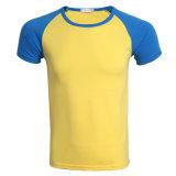 공장 도매 Raglan 간결 소매 면 단 하나 저어지 O 목 t-셔츠