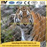 O cabo flexível atado do aço inoxidável virola decorativa X-Tende a rede animal do jardim zoológico do Aviary da corda
