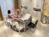 緩和されたガラスの上のステンレス鋼MDFの拡張可能なダイニングテーブル