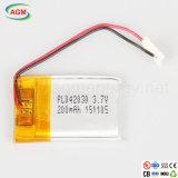 卸し売りOEM Pl042030 3.7V 200mAh Lipoのリチウムイオン電池