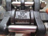 3PC Kohlenstoffstahl-Gewinde-Kugelventil mit sich hin- und herbewegender Kugel
