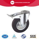 8 Zoll Bremsen-Bolzenloch-Schwenker-industrielle Gummifußrollen-