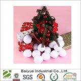 Украшение рождества праздника Snowballs белого плюша крытое