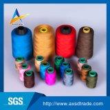 100%년 폴리에스테는 Factory 에의한 꿰매는 스레드 염색한 뜨개질을 하는 털실을 회전시켰다