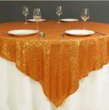 Свадебные украшения Sequin скатерть для проведения свадеб красивым золотым Sequin таблица наложения