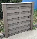 Compuesto de madera WPC de la seguridad caliente de la venta que cerca el panel sin la pintura
