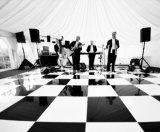 Großhandelsschwarzweiss-Furnierholz-hölzernes Hochzeitsfest Dance Floor