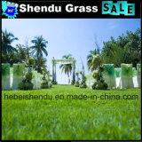 Alta densidade barata agulha 300/M em relva artificial, espessura de 10 mm para o tapete de casamento