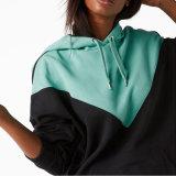 Контраст Hoodie плеча падения фабрики женщин одежды слишком большой