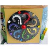 L'alfabeto educativo del bambino di legno colora i giocattoli del cubo del gioco del labirinto del branello del centro di attività di figure