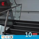 Disegno di vetro dell'inferriata scala dell'interno/esterna del corrimano della balaustra dell'acciaio inossidabile