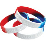 Heiße verkaufensilikon-Gummi-Form Sports die Kind-Förderung, die Geschenkwristband-Armband bekanntmacht