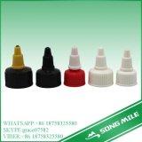 28mm pp. schwarze Plastikschutzkappe für kosmetisches Glas
