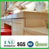 De beige Countertop van de Keuken van de Fonkeling Steen van het Kwarts
