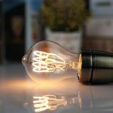 E14 E12 AC220V/110V G45 4W calientan el bulbo espiral blanco Dimmable del filamento LED de Edison