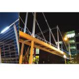 Balcone della balaustra dell'acciaio inossidabile che recinta le rotaie delle scale dell'acciaio inossidabile