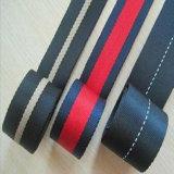 Qualitäts-gestreiftes Polyester-Baumwollgummiband-Schwarzweiss-gewebtes Material