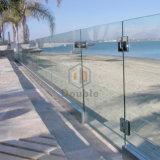 緩和されたガラスのUチャンネルのFramelessのガラス柵