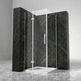 cabina cromada cuadrado China del baño de ducha de la bisagra del vidrio de 8m m