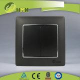 Interruttore variopinto della parete dell'ORO del gruppo del piatto certificato CE/TUV/CB 2 di standard europeo