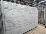 Белый Macaubas Quartzite полированной плитки&слоев REST&место на кухонном столе