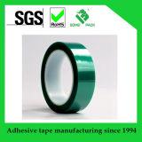 Cinta adhesiva del silicón verde de alta temperatura del poliester del animal doméstico