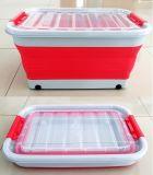 10/20/30/45/65L складная съемные Стиральными контейнер для хранения с крышками
