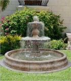 Eenvoudig Ontwerp Drie Fontein van het Water van Rijen de Zwarte Marmeren voor de OpenluchtHal van &Hotel