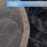 Frontal brasileño del cordón del pelo humano 13*3