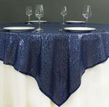 Tablecloth do Sequin da decoração do casamento para a tabela bonita Overlay&#160 do Sequin do ouro do casamento;