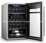 33bottles銀製灰色カラー二重ゾーンの圧縮機のワイン貯蔵室