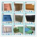4mm-6mmの濃紺か暗い灰色か灰色または深緑色または青銅色またはピンクまたはカラーによって染められるフロートガラス