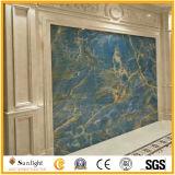 Bleu transparent de haute qualité poli Onyx pour tuiles mur de fond